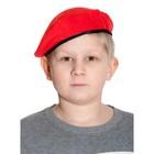 Берет карнавальный детский, р. 52-54, цвет красный