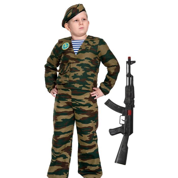 Карнавальный костюм «Десантник с автоматом», детский, р. 34-36, рост 134-140 см - фото 105522382