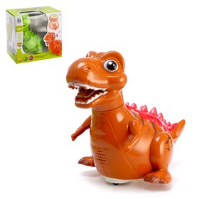 Динозавр «Дракончик» работает от батареек, световые и звуковые эффекты, цвета МИКС