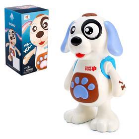 Игрушка «Собачка», работает от батареек, танцует, световые и звуковые эффекты