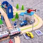 Железная дорога 149 деталей, 13×60×42,5 см - фото 105642875
