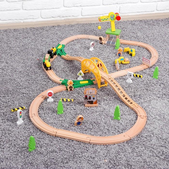 Железная дорога с краном, 10×56×31 см
