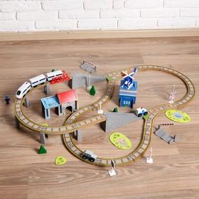 Железная дорога 100 деталей, 8×38,5×28,5 см
