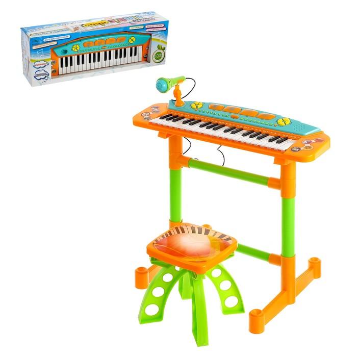 Напольный синтезатор «Яркие впечатления», со стульчиком, звуковые эффекты