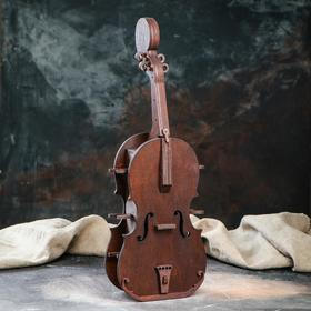"""Мини-бар деревянный """"Скрипка"""", 48 см"""