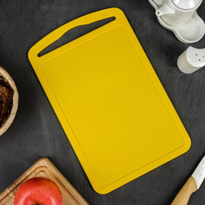 """Доска разделочная 32×20 """"Комфорт"""", цвет жёлтый"""