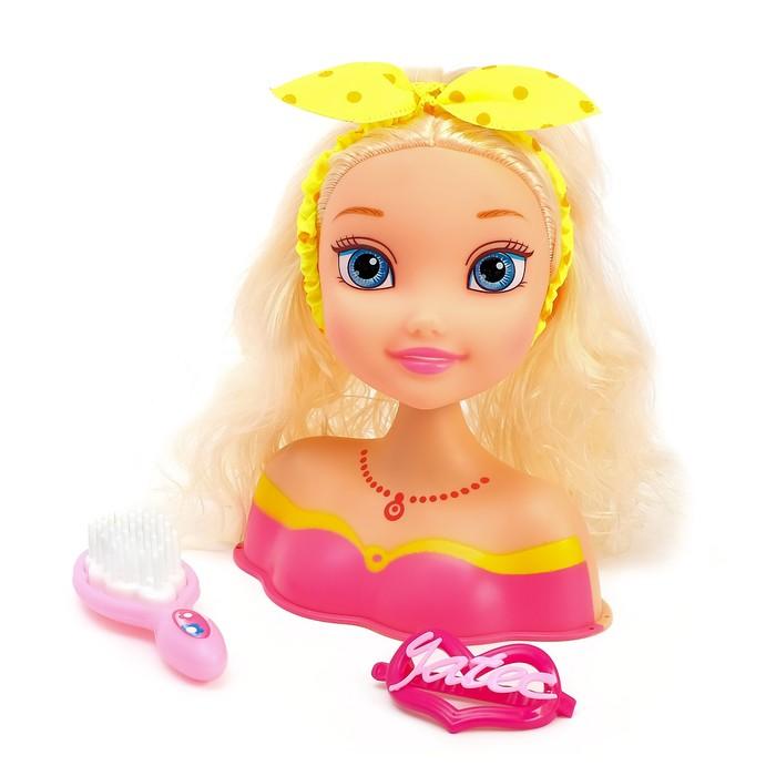 Кукла-манекен для создания причёсок «Алексия» с аксессуарами - фото 1000625