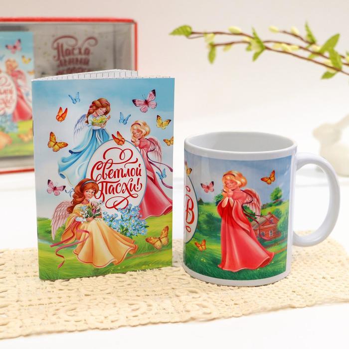 Подарочный набор «Ангелочки», 2 предмета: кружка, блокнот