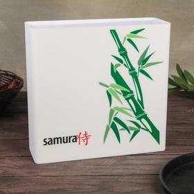 Подставка для ножей SAMURA, Hypercube, универсальная, наполнитель BRUSH