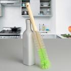 Ершик для посуды 29×5×5 см, деревянная ручка, цвет МИКС - фото 4648100