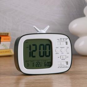 """Часы электронные """"Камбре"""" (будильник, дата, термометр) 12×10×4.5 см"""