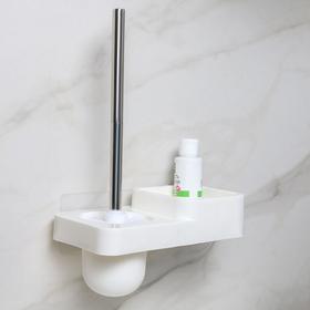 Подставка для туалетной комнаты, 24,5×13,5×18,5 см, в комплекте с креплениями, цвет МИКС
