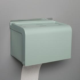 Полка-держатель для туалетной бумаги, 20×13×13 см, в комплекте с креплениями, на клейкой основе, цвет МИКС
