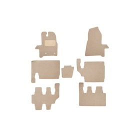 Коврики в салон Klever Premium Ford Tourneo Custom 2013- н.в. (8 мест), фург., 7 шт, текстиль, бежевые