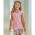 Блузка для девочки MINAKU Cotton collection: Romantic, цвет розовый, рост 98 см - фото 76125399