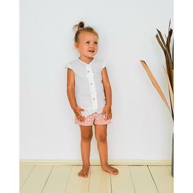 Блузка для девочки MINAKU Cotton collection: Romantic, цвет белый, рост 110 см