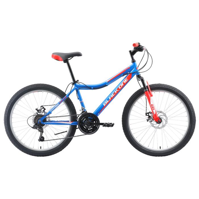 """Велосипед 24"""" Black One Ice D, 2020, цвет голубой/красный/серебристый, размер 12"""""""