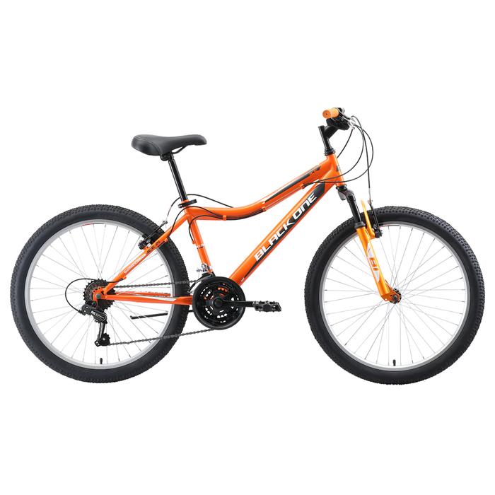 "Велосипед 24"" Black One Ice, 2020, цвет оранжевый/серый/белый, размер 12"""