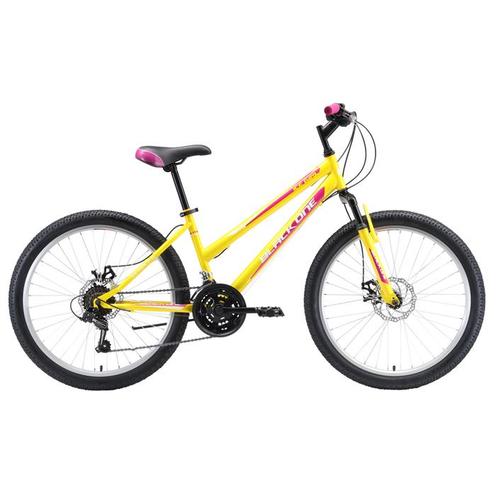 """Велосипед 24"""" Black One Ice Girl D, 2020, цвет жёлтый/розовый/белый, размер 12"""""""