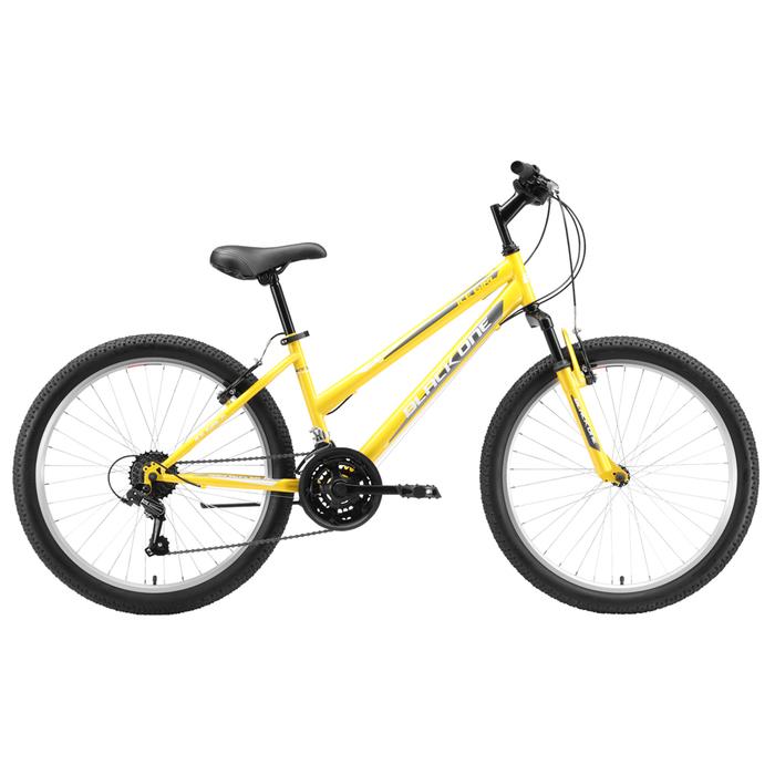"""Велосипед 24"""" Black One Ice Girl, 2020, цвет жёлтый/белый/серый, размер 12"""""""