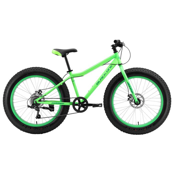 "Велосипед 24"" Black One Monster D, 2020, цвет неоновый зелёный, размер 12"""