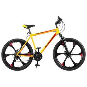 """Велосипед 26"""" Black One Onix D FW, 2020, цвет жёлтый/чёрный/красный, размер 20"""""""