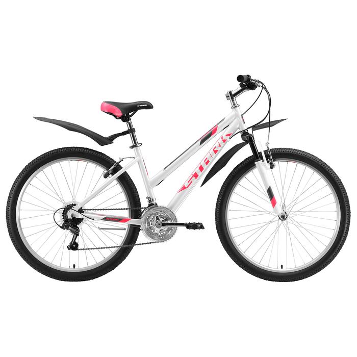 """Велосипед 26"""" Stark Luna 1 V, 2020, цвет белый/розовый/серый, размер 16"""""""