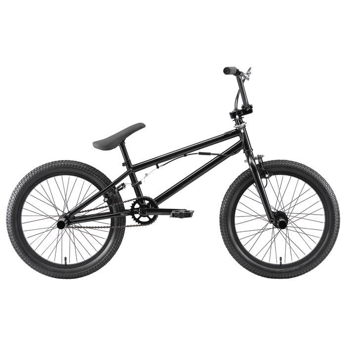 """Велосипед 20"""" Stark Madness BMX 3, 2020, цвет чёрный/синий"""