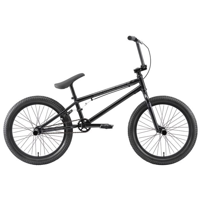 """Велосипед 20"""" Stark Madness BMX 4, 2020, цвет чёрный/серебристый"""