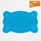Коврик для туалета животных фигурный, 40 х 25 см, микс цветов - фото 139482