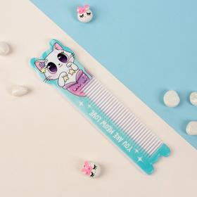 Comb with handle figure is 14.7*3,8(±1)cm in the CAT-MERMAID package QF