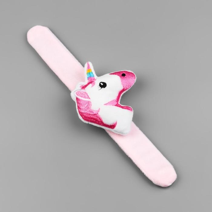 Игольница на браслете Единорог», 23 × 8 см, цвет розовый - фото 688542