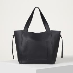 Сумка-шопер, отдел на магните, наружный карман, цвет чёрный