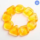 Прорезыватель охлаждающий «Карамельный круг», жёлтый