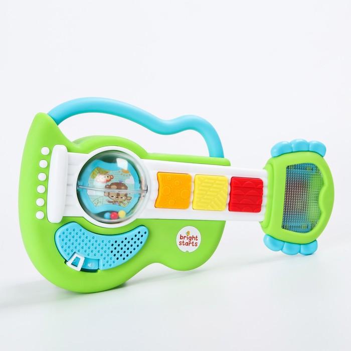 Развивающая игрушка с погремушкой Гитара «Рокзвезда» - фото 105528705