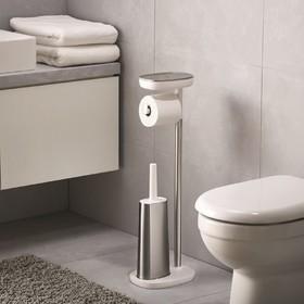 Набор держатель для туалетной бумаги с подносом EasyStore + ёршик для унитаза Flex