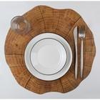 Салфетка кухонная «Спил», 38×39 см, цвет коричневый - фото 487067