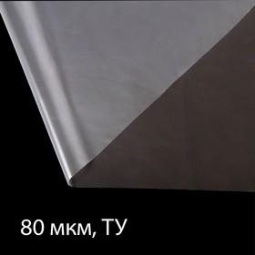 Плёнка полиэтиленовая, толщина 80 мкм, 3 × 100 м, рукав (1,5 м × 2), прозрачная, 1 сорт, Эконом 50 %