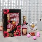 """Гель для душа """"8 Марта"""", 260 мл.аромат розы , соль для ванн 4 шт. - фото 487070"""