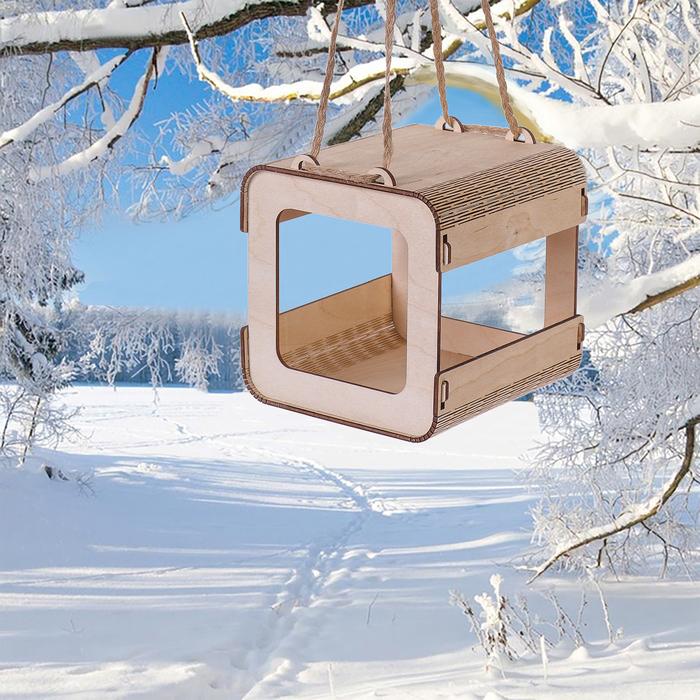 Кормушка для птиц, 14 × 14 × 14 см, сборная