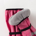 Рукавицы детские, непромокаемые утепленные, цвет розовый принт, размер 13 - фото 105569192
