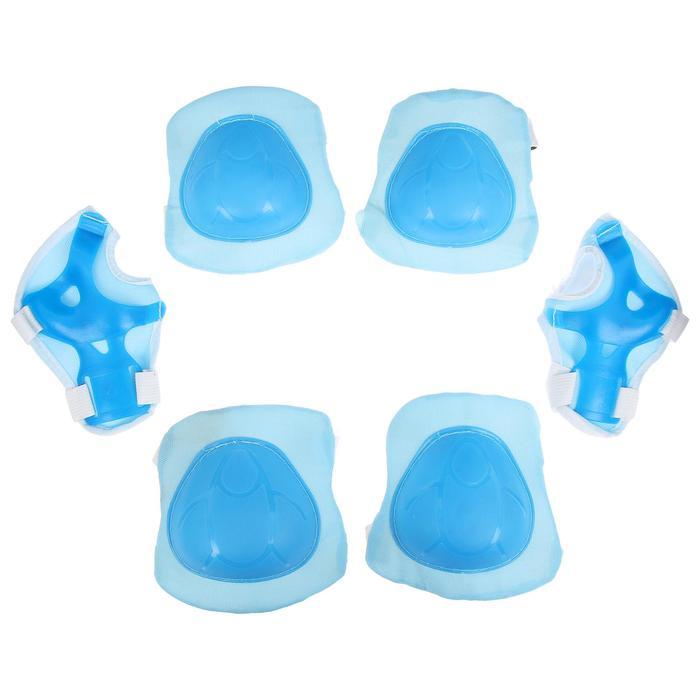 Защита роликовая, размер универсальный, цвет голубой - фото 7399908