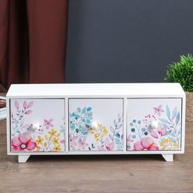 Jewelry box wood 3 drawer