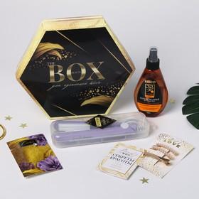 Набор «Beauty box», щипцы-гофре, цвет МИКС, 25,5 х 22 см
