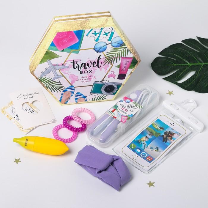 Набор щипцы-гофре Travel box, цвет МИКС, 25,5 х 22 см