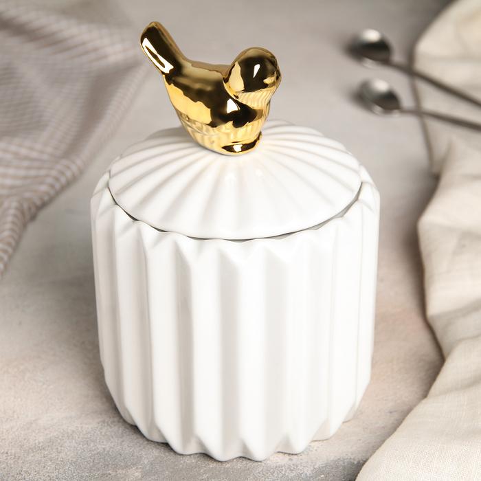 Банка для сыпучих продуктов «Золотое крыло», 12×18 см - фото 487146