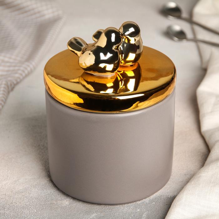 Банка для сыпучих продуктов «Золотое крыло», 800 мл - фото 487158