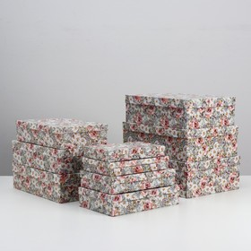 """Set of 10 boxes in 1 """"Tenderness"""", 36.5 x 26.5 x 12 - 23 x 13 x 3 cm"""