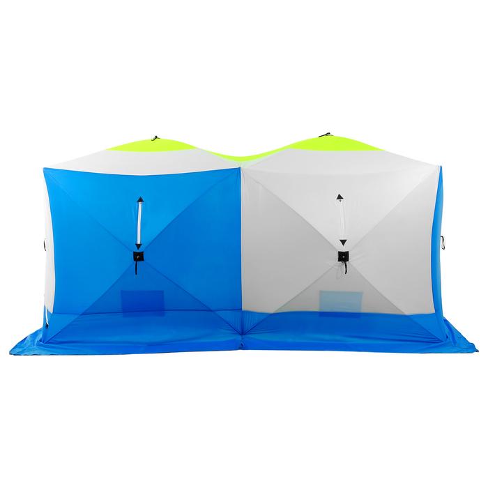 Палатка зимняя «КУБ дубль» 4-местная трёхслойная, дышащая - фото 32529