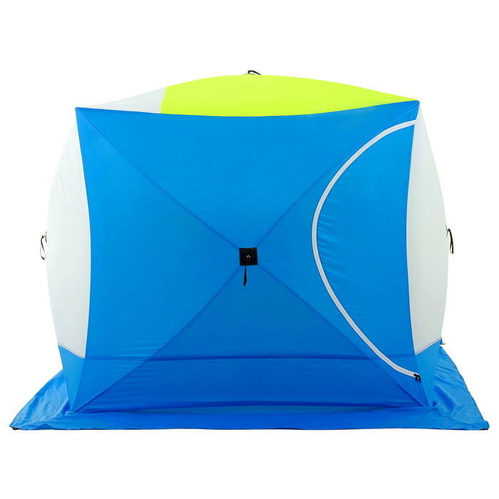 Палатка зимняя «КУБ дубль» 4-местная трёхслойная, дышащая - фото 32530